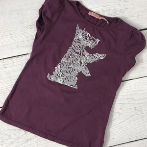 Juicy Couture Purple Silver Sequin Dog T Shirt 7